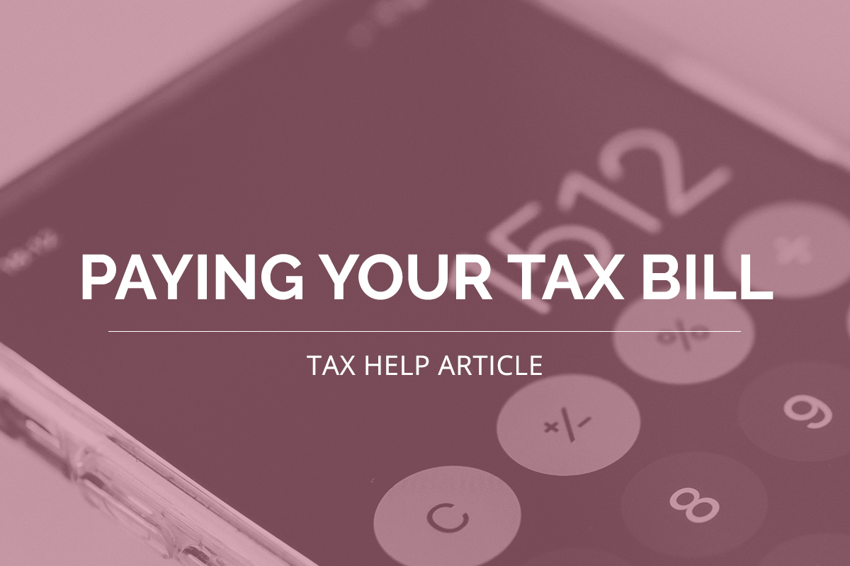 Paying Your Tax Bill